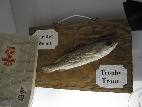 Michael Collins and Buzz Aldrin's Gifts to Guenter Wendt - Trophy Trout