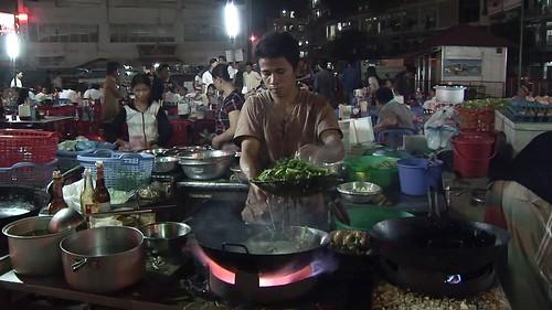 Cambodia - Phnom Penh - Night Market - Restaurant - 2