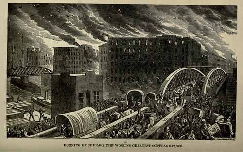 BURNING OF CHICAGO. THE WORLD'S GREATEST CONFLAGRATION 1883