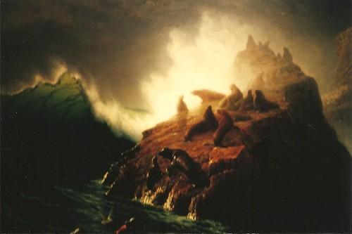 Albert Bierstadt (1830-1902) Seal Rock (1872)