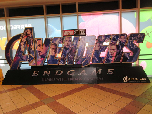 Avengers Endgame Theater Lobby Standee NYC 7934