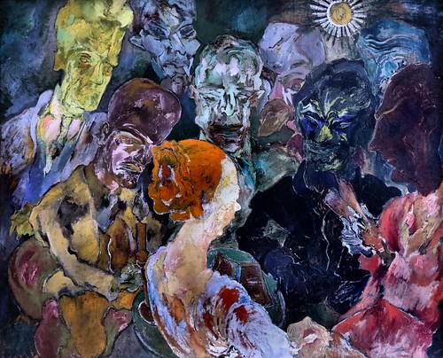 IMG_0554AW Carl Lohse 1895-1965 Germany Vorlesen lisant à voix haute  Vorlesen Reading aloud 1920 Munich Pinakothek der Moderne