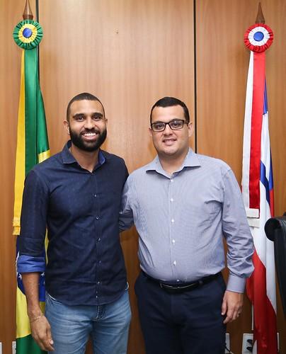 16-05-2019 - Gabinete - Visita do Secretário de Relações Institucionais da Câmara Municipal de Salvador, Heber Santana