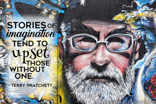 Terry Pratchett Quote Stories of imagination tend to upset those without one.
