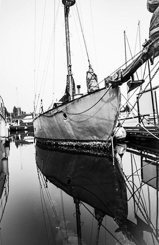 Reflections of an old sailer in Black & White