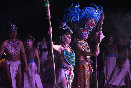 Three outdoor performances combine to create one love story based on ancient Maya tales and myths, Sandos Caracol Eco Resort, Mexico