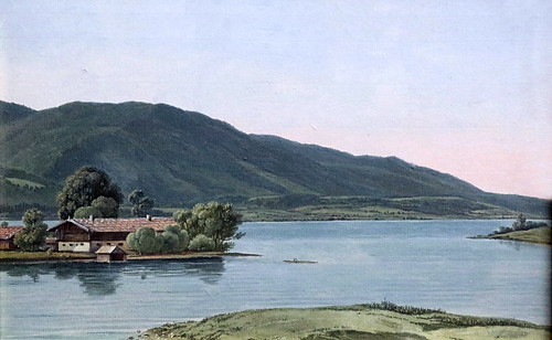 IMG_5853M Wilhelm von Kobell. 1766-1853.  Egern au lac Tegernsee  Egern at Lake Tegernsee. vers 1817.    Hambourg Kunsthalle.