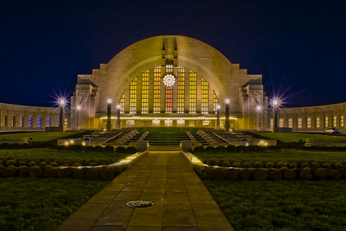 Cincinnati Museum Center at Union Terminal, 1301 Western Avenue, Cincinnati, Ohio, USA / Built: 1933 / Architects:  Alfred T. Fellheimer, Steward Wagner, Paul Philippe Cret, Roland Wank / Architectural Style: Art Deco / Designated NHL: May 5, 1977
