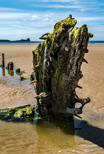 The wreck of the Helvetia in Rhosili Bay 2019 05 21 #29