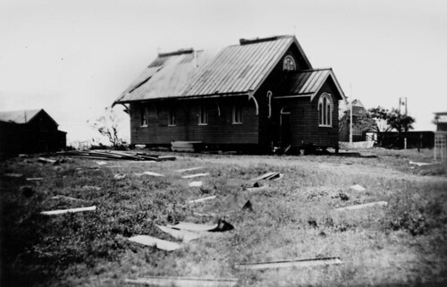 St Saviours Church of England in Gladstone after cyclone in 1949