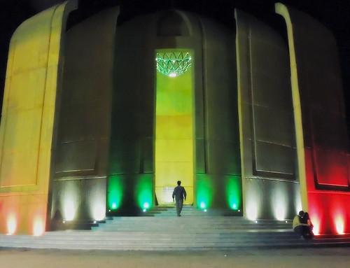 Iran nightlife at mausoleum of anonymous martyrs of the Iran-Iraq war in Jamkaran, Qom
