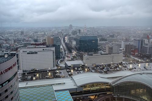 Kanazawa Station from Above, Ishikawa, Japan