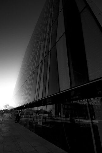 sky and light, reflections and patterns, black & white fine art, Sr Duncan Rice Library, University of Aberdeen, Aberdeen, Scotland
