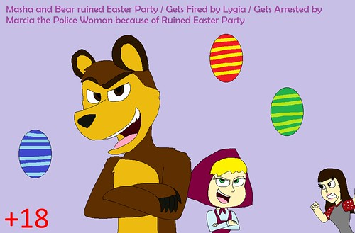 Masha and Bear ruins Easter Party and gets Arrested