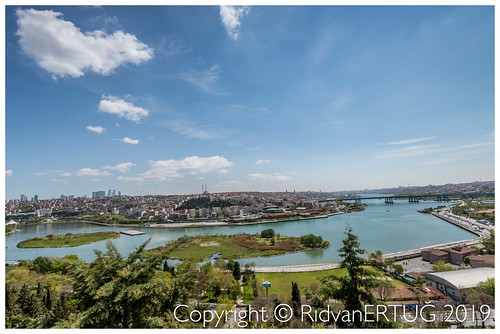 View from Pierre Loti cafe Eyüp - Pierre Loti Hill and Golden Horn -  Istanbul - Turkey