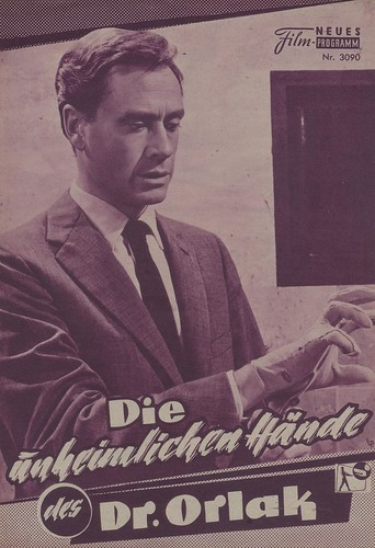 The Hands Of Orlac: Filmprogramm, BRD