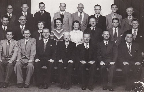 Castlemaine Technical School Staff 1955