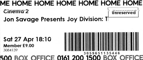 Jon Savage Presents Joy Division: The Oral History + Live Film @ Home, Manchester 27/4/2019