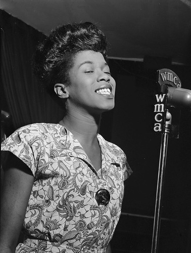 September Song: Portrait of Sarah Vaughan performing at Café Society in downtown New York City September 1946.