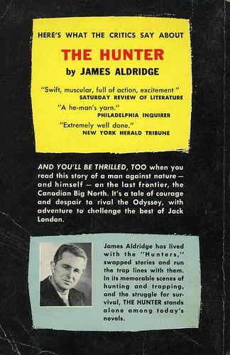 Dell Books 657 - James Aldridge - The Hunter (back)