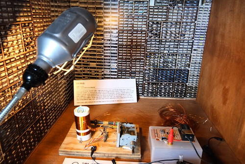 Seoul Korea retro radio display at Seun Electronics Market museum May 2019 -