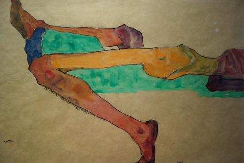 Egon Schiele 'Reclining Male Nude'