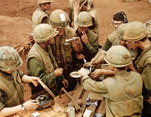 US Marines Eating Fruit Cocktail