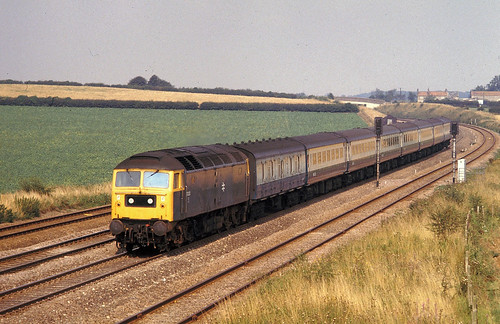 Swayfield  Class 47 Hull to Kings X Sept 81 J7577