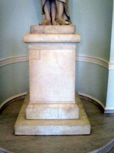 Base of Statue of George Washington in Doric Hall