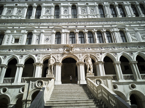 The Giants' Staircase of the Doge's Palace in Venice
