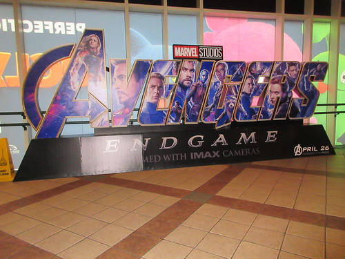 Avengers Endgame Theater Lobby Standee NYC 7938