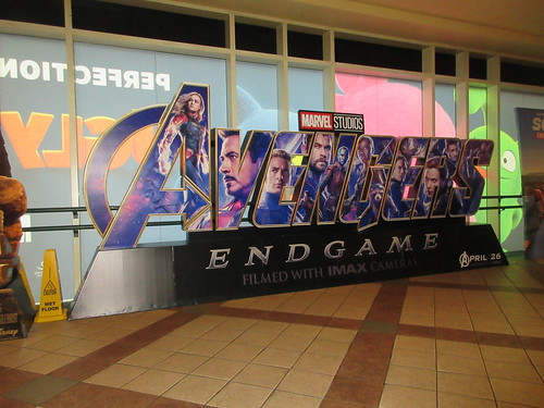 Avengers Endgame Theater Lobby Standee NYC 7940
