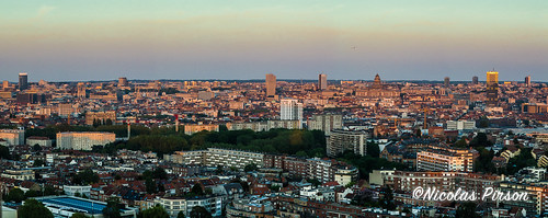 Sunset on Brussels, panorama