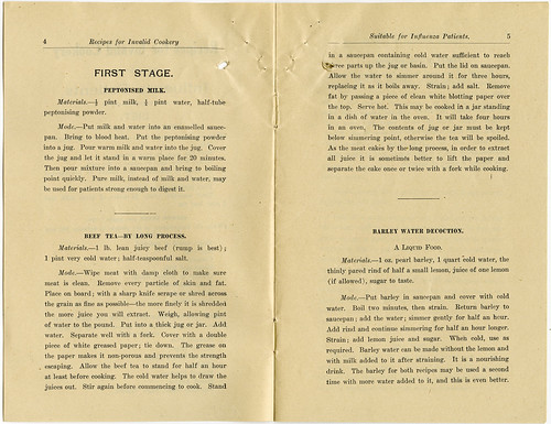 Recipes for Invalid Cookery - Stage 1 Care Recipes (c1919)