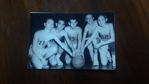 Undefeated WSJr.H Basketball Team circa 1958 Eric Eslinger, Buster Snyder, Jim Hall, Mike Barrett and Eddie Arthur