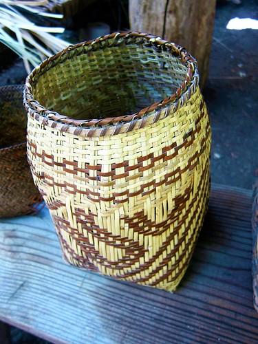 Traditional Cherokee Native American Basket ~ Oconaluftee Indian Village ~ Cherokee, North Carolina
