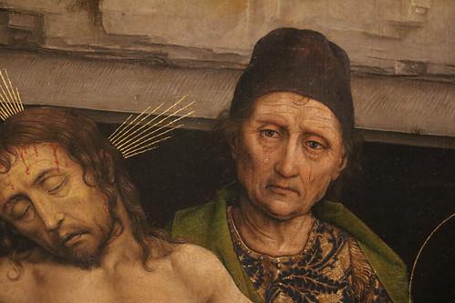 Rogier van der Weyden (Tournai 1399 - Bruxelles 1464) - Deposizione nel sepolcro (1460) - Galleria degli Uffizi Firenze