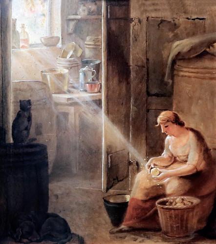 IMG_5854A Johann Heinrich Wilhelm Tischbein. 1751-1829. Scène de cuisine Kitchen Szene. Hamburg Kunsthalle.