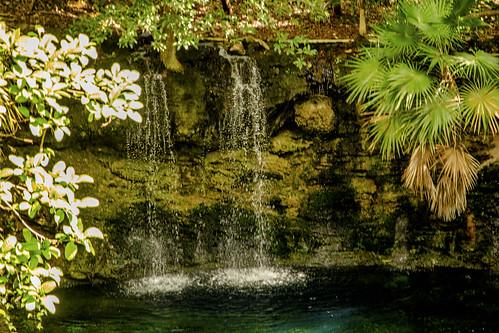 Waterfall, Cenote de la Cascada, Sandos Caracol Eco Resort, Mexico