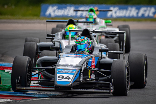 Sebastien Alvarez in the Double D Racing Ford F4 at Thruxton