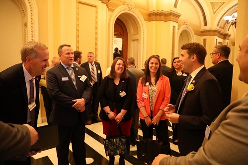 New England Regional Vice President Mick Devine, Caitlyn Valeri (ZBW), Alyssa Smith (BED), ZBW Legislative Rep Kevin Coeyman, New Hampshire State Coordinator Jeff Aulbach (ZBW), and New England Region National Legislative Committee Rep Andre Jean met with