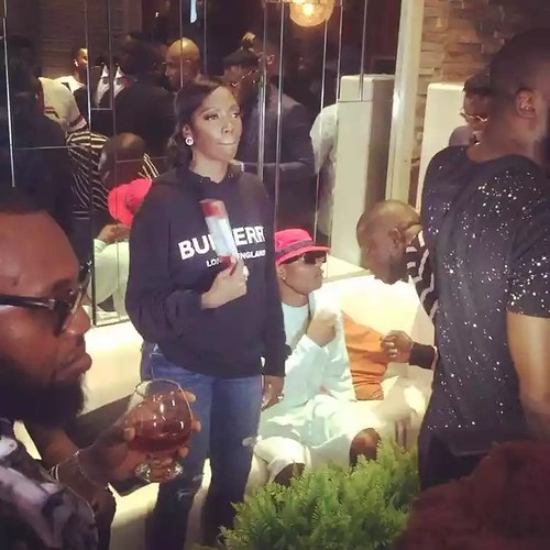 Wizkid and Tiwa Savage spotted at Patoranking's album listening party. Photos