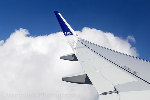 EI-SIH Scandinavian Airlines System SAS A320neo Approaching London Heathrow Airport