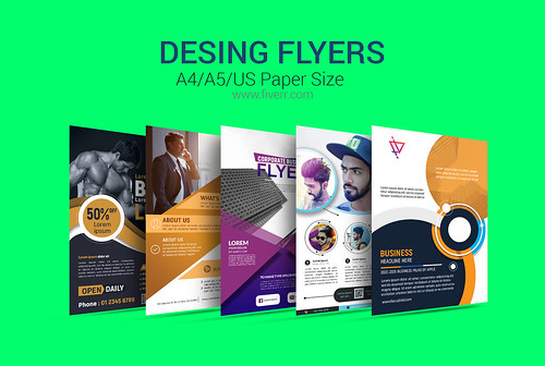 I Will Design Professional Flyer,Poster Within 24 Hours