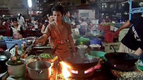 Cambodia - Phnom Penh - Night Market - Restaurant - 1