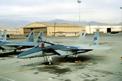 82-0028 WA. Strike Eagle Test Scheme. Photo Kirk W. Minert