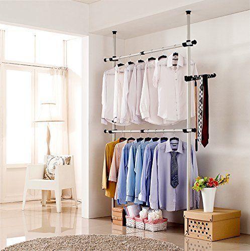 Details about Portable Closet System Wardrobe Clothes Storage Rack Organizer Garment Coat Rack