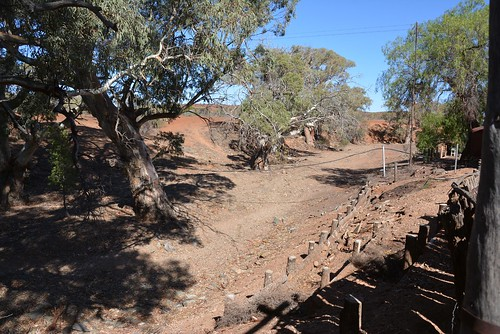 Holowiliena Station creek bed beside the homestead, Southern Flinders Ranges South Australia