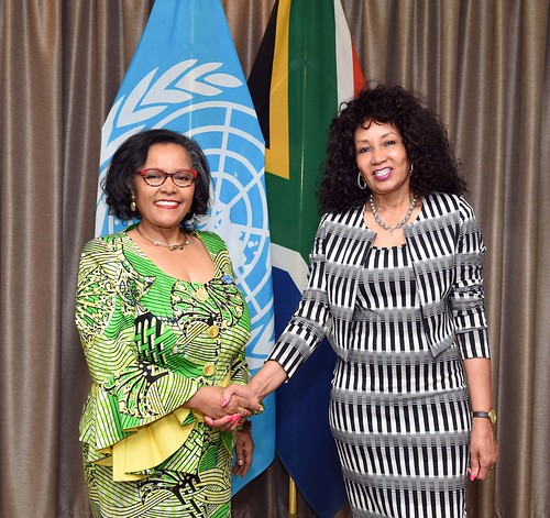 Minister Lindiwe Sisulu receives Letter of Assignment from Ms Nardos Bekele-Thomas