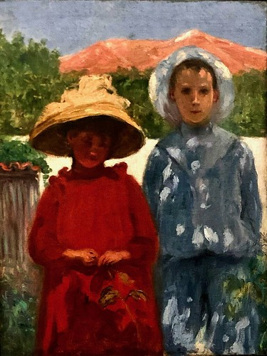 Portrait of the painter's sons (undated) - António Carneiro (1872-1930)